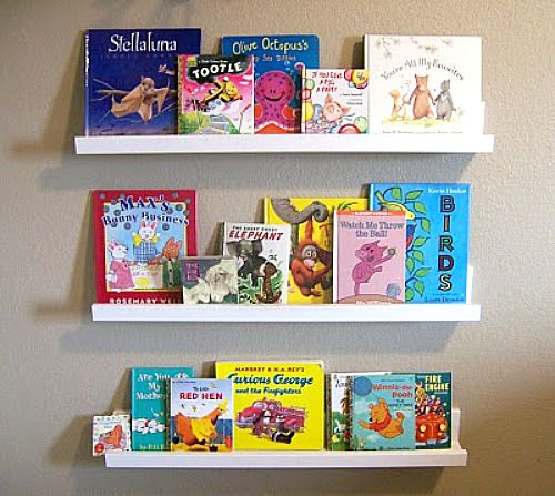 DIY: $20 = More Book Storage. #DIY #book #shelfBookshelves, Book Display, Floating Shelves, Diy Bookshelf, Kids Room, Book Storage, Book Shelves, Display Shelves, Children Book