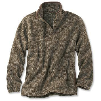 Just found this Mens+Fleece+Sweater+-+Suede-Trimmed+Snap+Fleece+--+Orvis on Orvis.com!