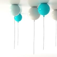 Memory balloon lamps by Brokis. I love the idea of having the ceiling covered by them :)