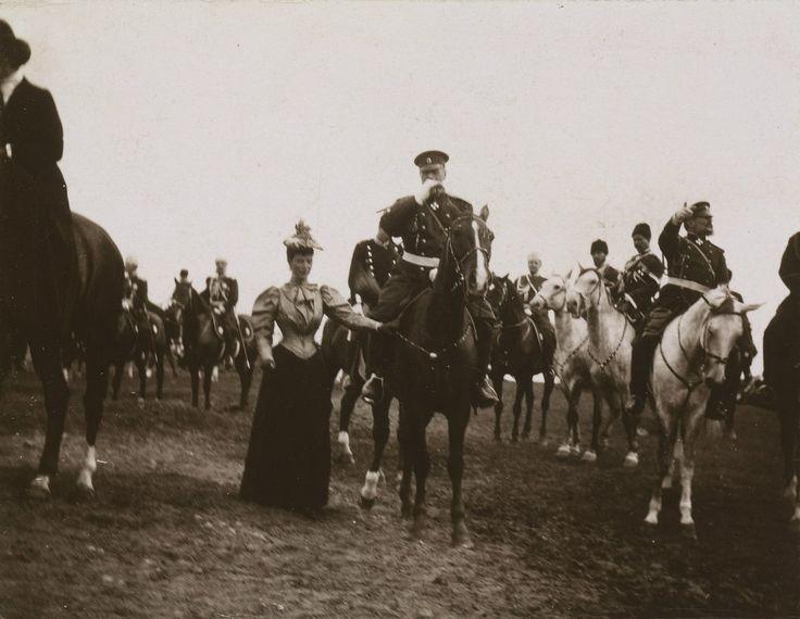 Императрица Mария Федоровна with her husband Tsar Alexander III