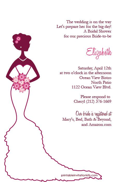 16 best images about bridal shower invitations free on for How to make bridal shower invitations