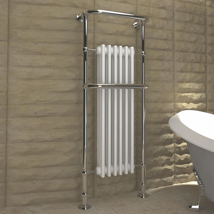 Kudox Victoria Traditional Towel Warmer Chrome Effect (H)1500 (W)576mm | Departments | DIY at B&Q
