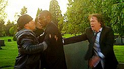 Leverage, Grave Danger Job. // Eliot & Hardison - I wanted to cry at what Eliot said. They're like brothers.