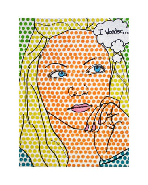 Roy Lichtenstein inspired portraits. Could use top of pencil eraser to make dots.