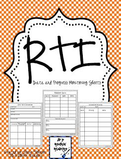 Classroom Freebies: RTI- Forms for documenting