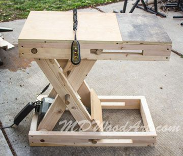 Diy Motorized Scissorbench Kool Ideas Woodworking