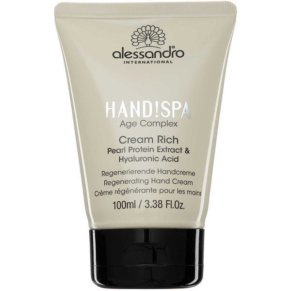 Alessandro International alessandro Cream Rich Regenerating Hand Cream... ❤ liked on Polyvore featuring beauty products, bath & body products, body moisturizers, beauty and alessandro international