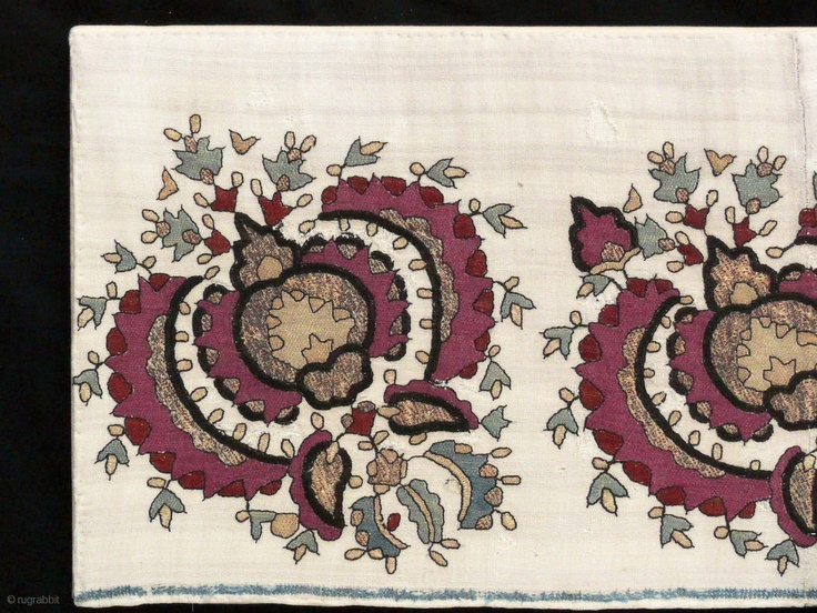Ottoman textile, 18th century, 1.20 X 0.30 m. http://gallery-arabesque.com/item/400015618