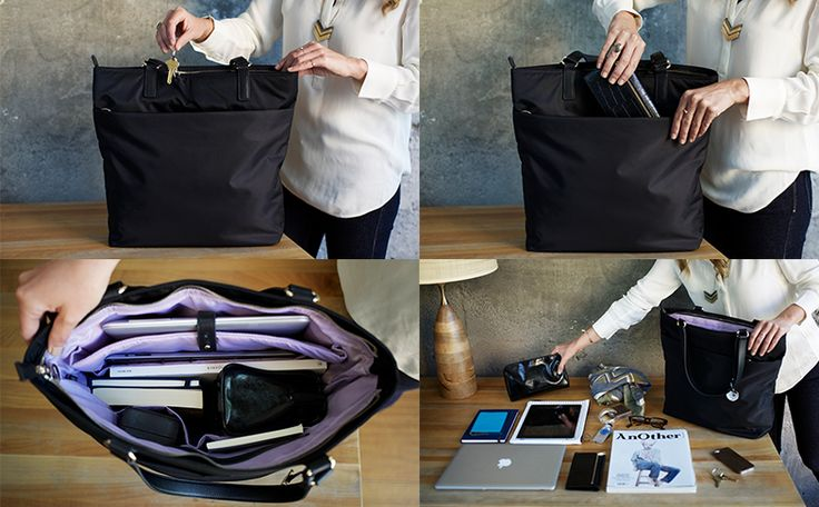 The TT - Women's Travel Bag & 13 Inch Laptop Tote - Lo & Sons. Awesome video showing how much stuff can fit in here! $260