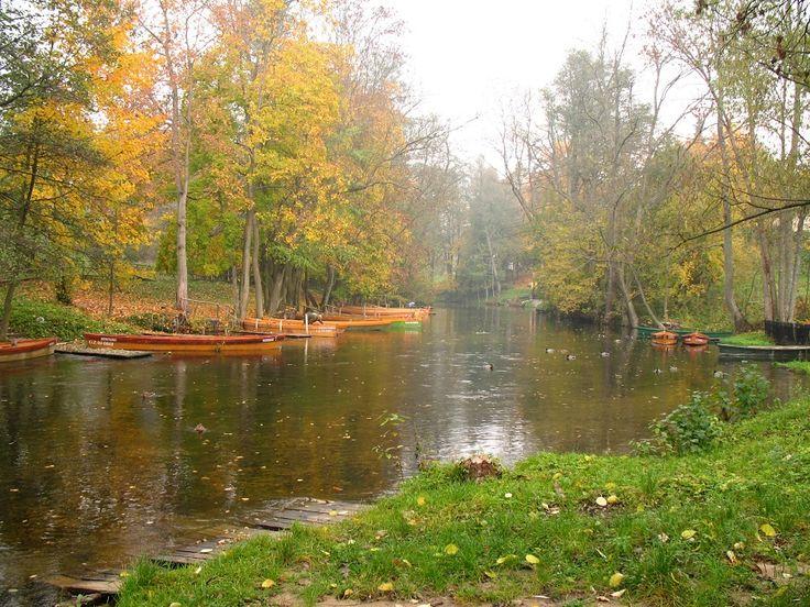 Jesień na szlaku rzeki Krutyni, mglisto, chłodno, ale nadal pięknie.  fot. Mrągowskie Centrum Informacji Turystycznej