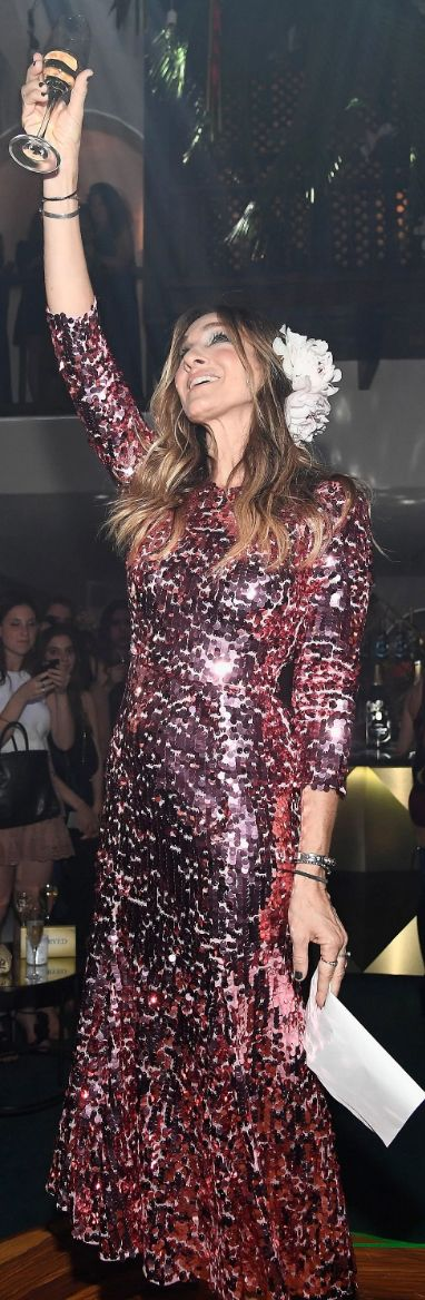 Sequins/Festival Season Who made Sarah Jessica Parker's pink sequin dress?