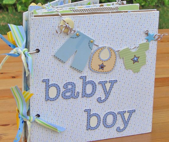 This is a handmade Srapbook Mini Album, designed for scrapbooking a little baby boy's pictures. Perfect for preserving your little boy's precious