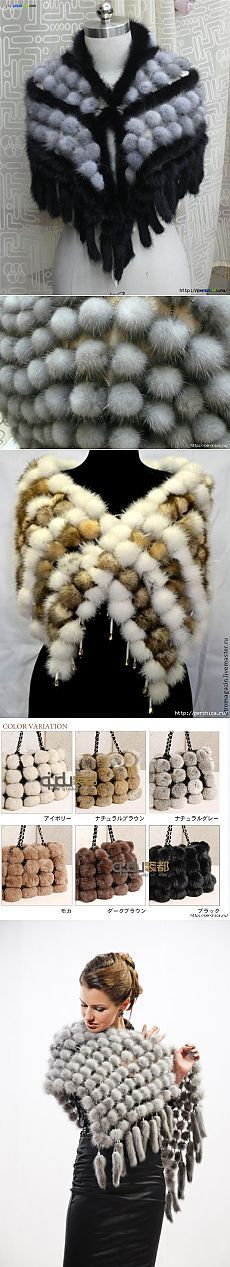 МК по созданию шарфа из меховых шариков на сетке | мех | Постила