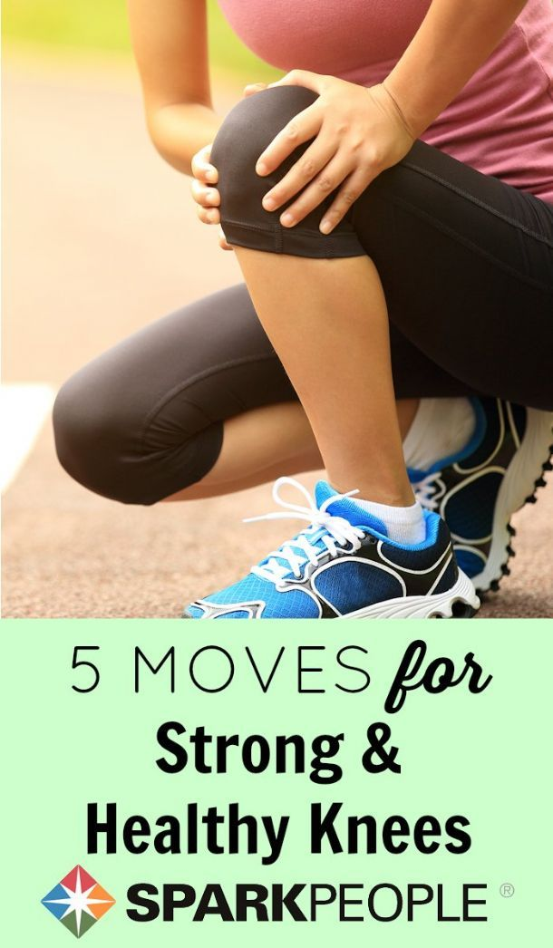 Get stronger knees in 5 simple moves!| via @SparkPeople #health #wellness #kneehealth #fitness