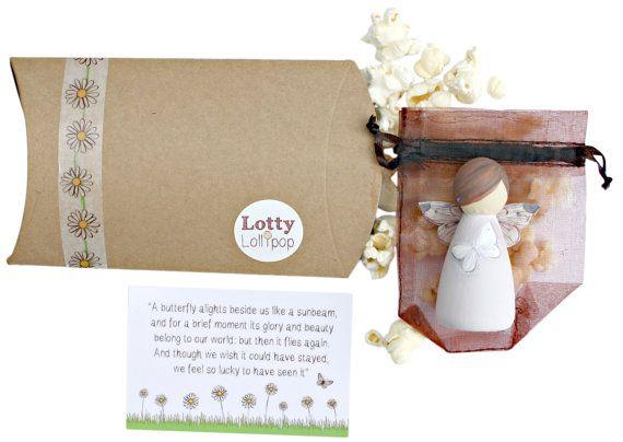 White memorial pérdida de mariposa hadas regalo de aborto