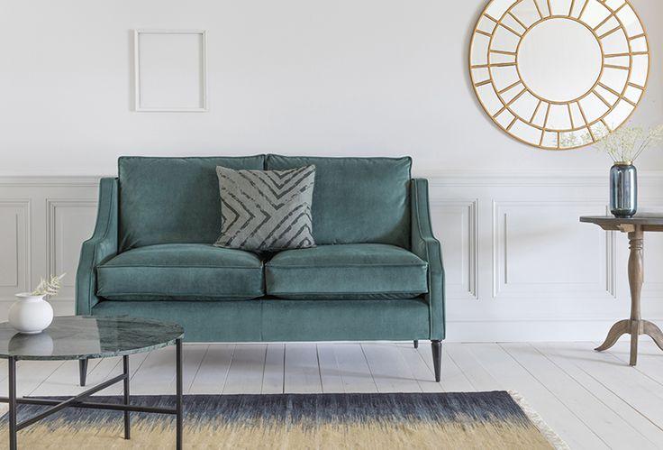 Nicholas 2-Seater Sofa in Tridents Entourage Velvet with Athena Side Table, Didi Side Table, Cyrus Rug, Icarus Mirror & Furiosa Vase