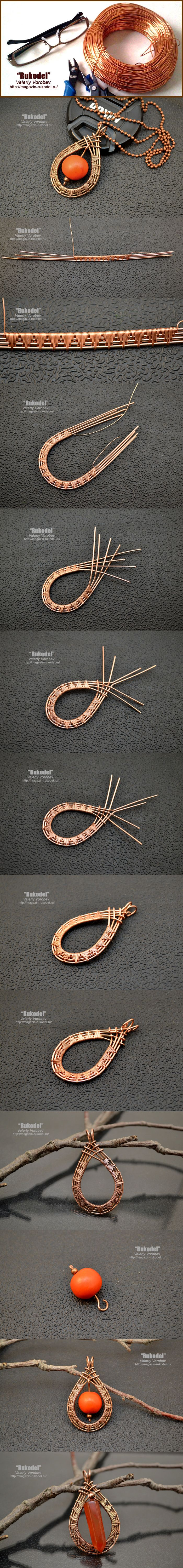 Jewellery made of wire with his hands for beginners. | Crafts