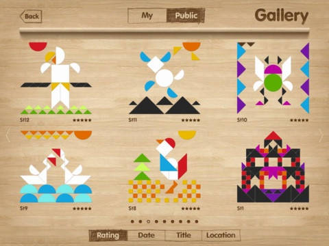 iPad tangrams app for kids