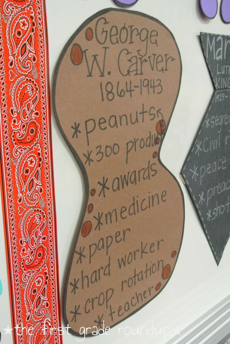 George washington carver crafts - Black History Month George Washington Carver Thefirstgraderoundup Blogspot Com