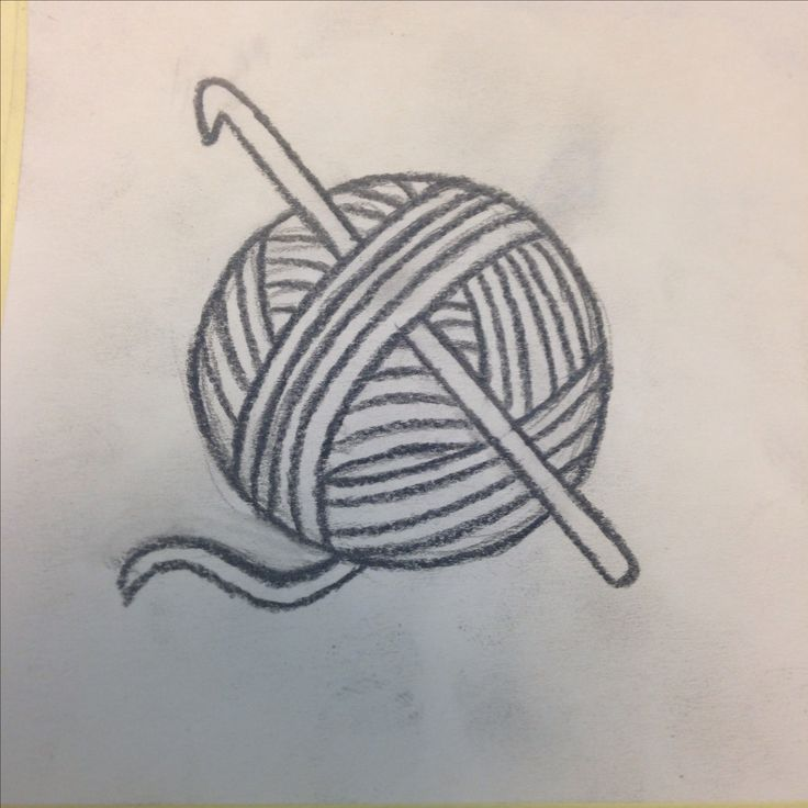 Crochet hook and yarn ball tattoo idea
