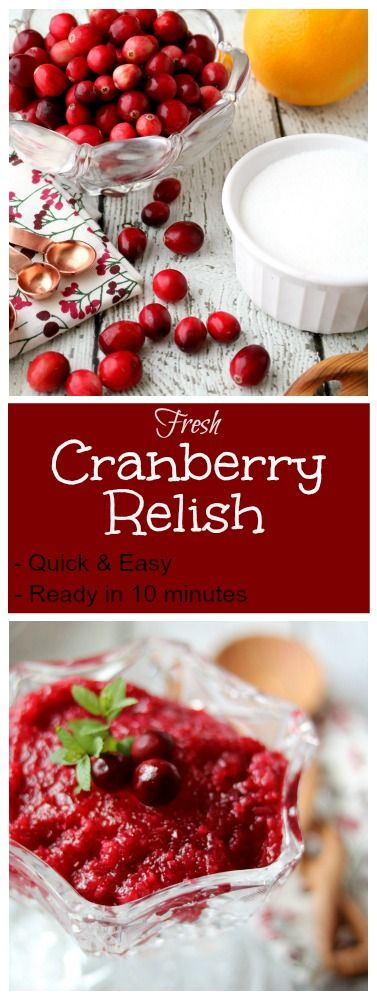This sweet yet tart cranberry relish is a simple and delicious addition to any holiday menu.