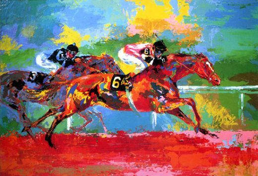 Leroy Neiman - Affirmed and Spectacular Bid