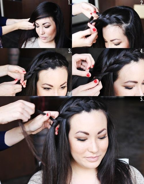Bang braid! I just can't seem to get this simple braid on the hairline!