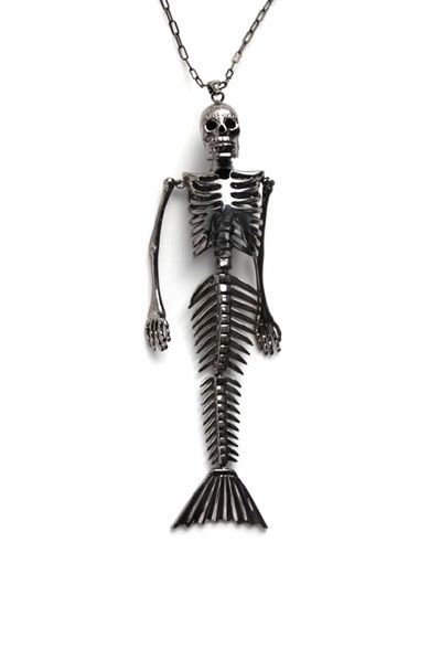 merskelly: Fashion, Style, Mermaid Necklaces, Mermaid Skeletons, Jewelry, Things, Accessories, Skeletons Necklaces, Skeletons Mermaid