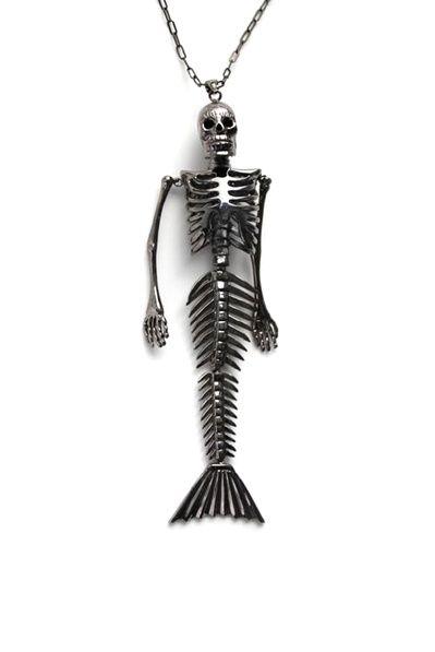 NOIR Mermaid Pendant Necklace