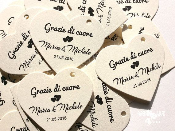100 Heart Tag_Thank You Tag_ Grazie Etichette a by PaperMark4You