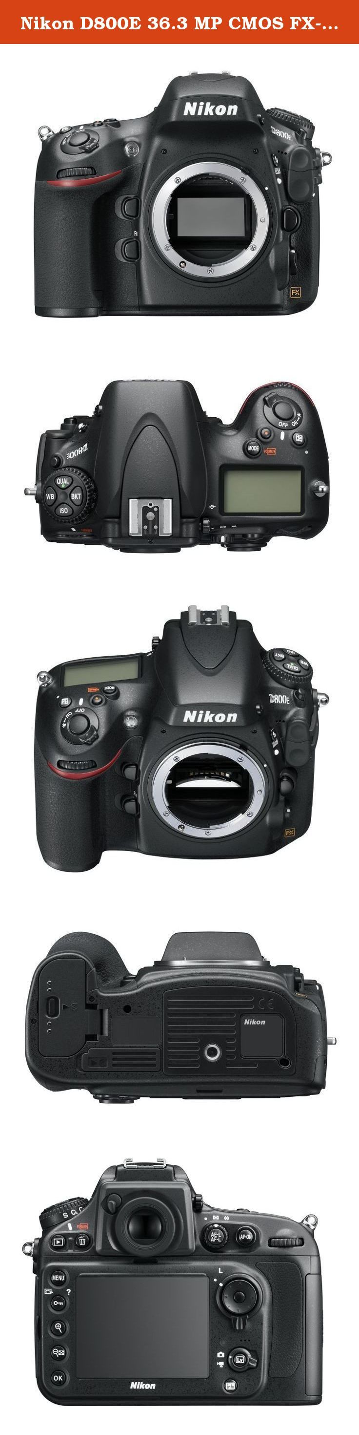 """Nikon D800E 36.3 MP CMOS FX-Format Digital SLR Camera """"With English instruction manual"""" (Body Only) - International Version (No Warranty). The super-high resolving specification D800E which makes further conspicuous a feeling of resolving of effective-pixels 36.3 megapixel is the model designed in order to realize a higher feeling of resolving, without spoiling the high basic performance and mobility of D800 entirely. The optical low pass filter of an image sensor is that spatial…"""