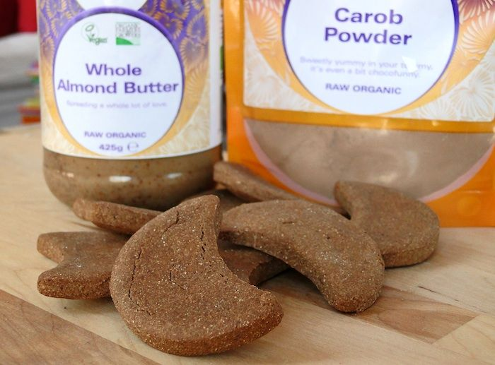 Carob Almond Protein Cookies made with SunWarrior rice protein (they're vegan & gluten-free)