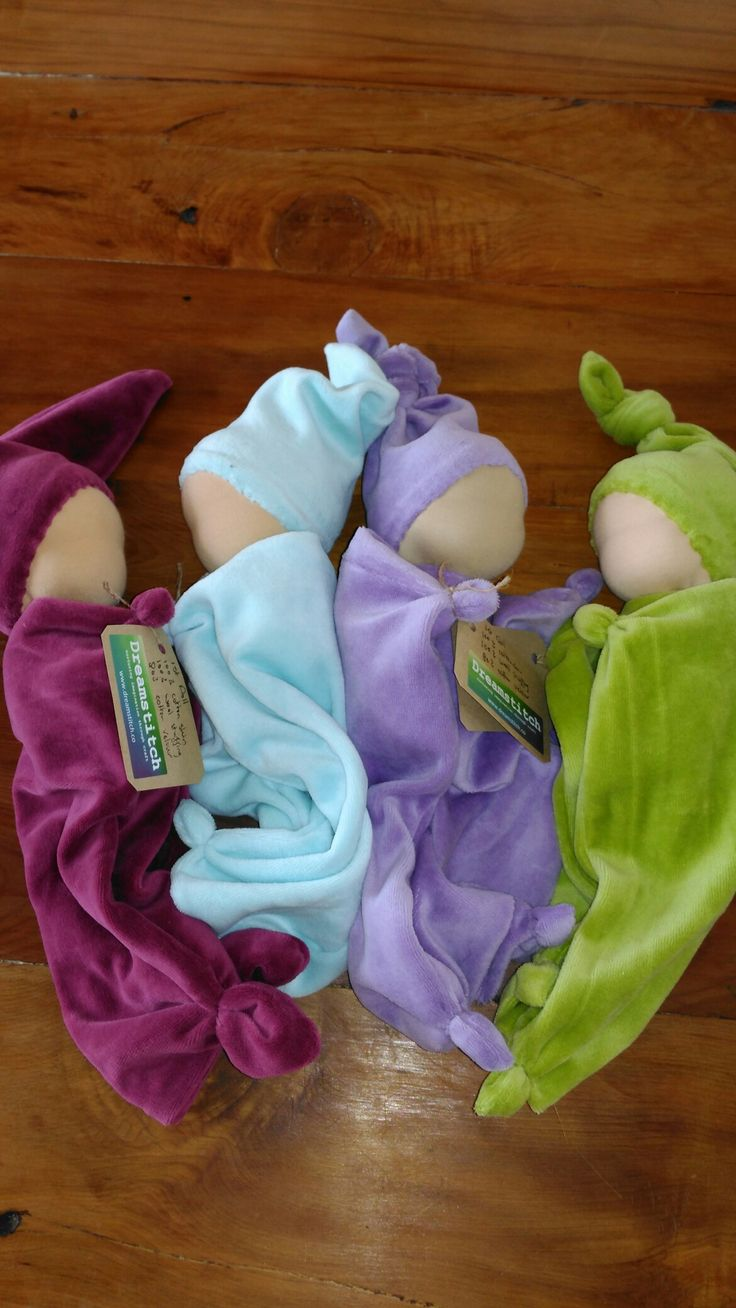 Little snuggle dolls from cotton velour