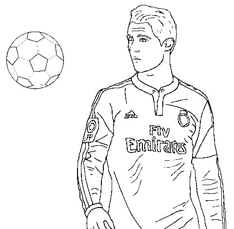 Cristiano Ronaldo And Ball Coloring Page In 2020 Sports Coloring Pages Cristiano Ronaldo Ronaldo
