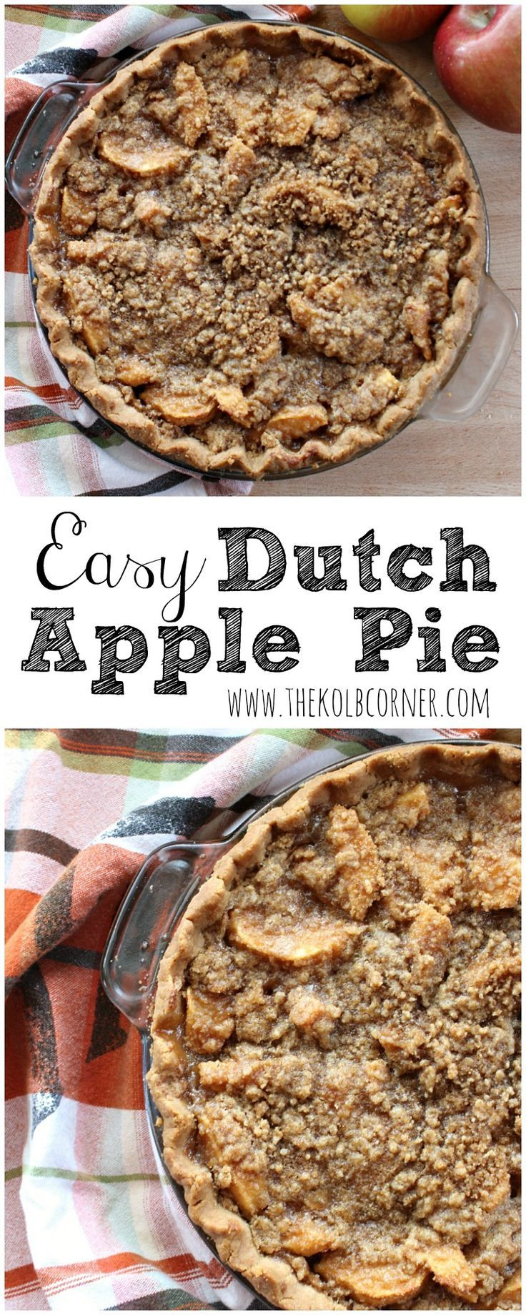Easy Dutch Apple Pie - I'm down for an easy dessert recipe. Can't wait to try this apple pie.