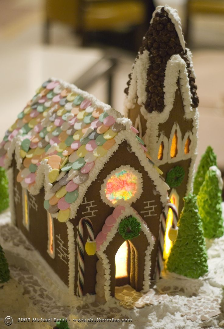 52 best Gingerbread-Cathedrals, Churches images on Pinterest ... Gingerbread Church House Designs on church cakes, church family house, church snow, church autumn, church candy, church cupcakes, church country gingerbread recipe,