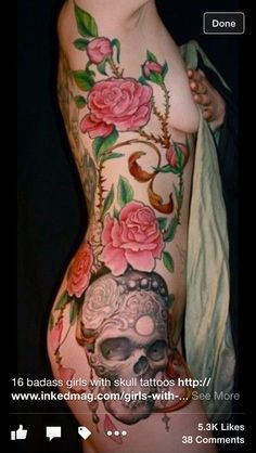 ... Rose Side Tattoos on Pinterest | Side Tattoos Black Roses and Rib