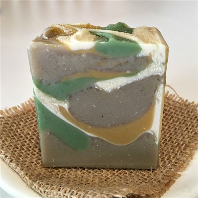 Ambered Sandalwood Cold Process Soap.