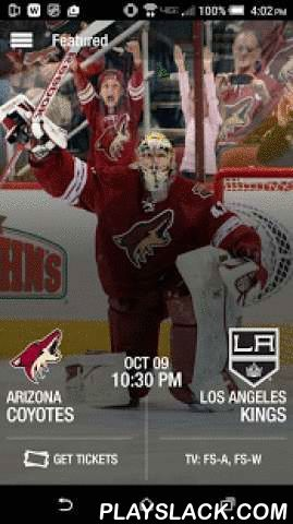 Arizona Coyotes  Android App - playslack.com ,  This official app of the Arizona Coyotes brings fans closer to the team than ever before. Get live game coverage, player interviews, game previews and recaps, postgame video highlights, enhanced stats, customized game alerts, player profiles and much more! Follow the Coyotes all season long on your mobile device!Coyotes App Features Include:• Live Game Coverage with Near Real-Time Shift Changes, Player Stats, Boxscore and Play-by-Play•…