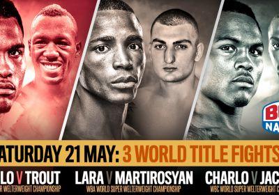 REAL COMBAT MEDIA UK: BOXNATION: LIVE TONIGHT: World Title triple header!