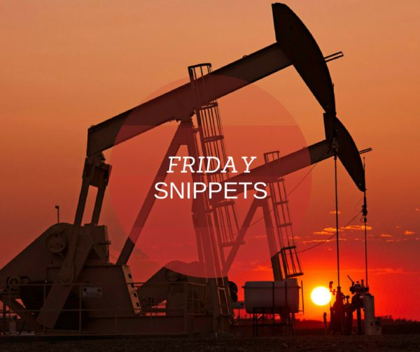 Good Friday everyone! Check out this week's Friday Snippets... Oil and gas investor and Oklahoma Minerals founder, Gib Knight, gives a quick summary of the most recent oil and gas industry news stories we have reviewed this past week. #Like #Share #FridaySnippets