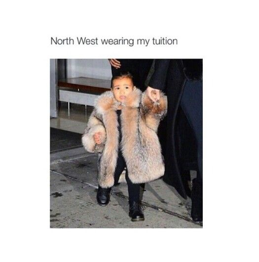 North West wearing my tutition