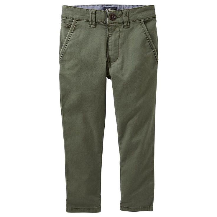 Boys 4-12 OshKosh B'gosh Slim Chino Pants, Green