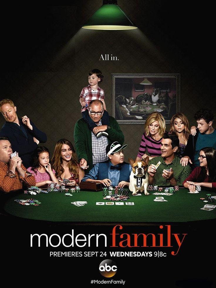MODERN FAMILY Season 6 Poster ABC Comedy TV Series Starring Julie Bowen, Ty Burrell, Sofía Vergara, Eric Stonestreet, Sarah Hyland