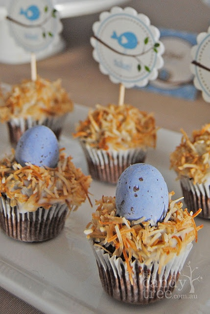 ... Nests Cupcakes, Birds Nests, Baby Sprinkle, Coconut Cupcakes, Parties