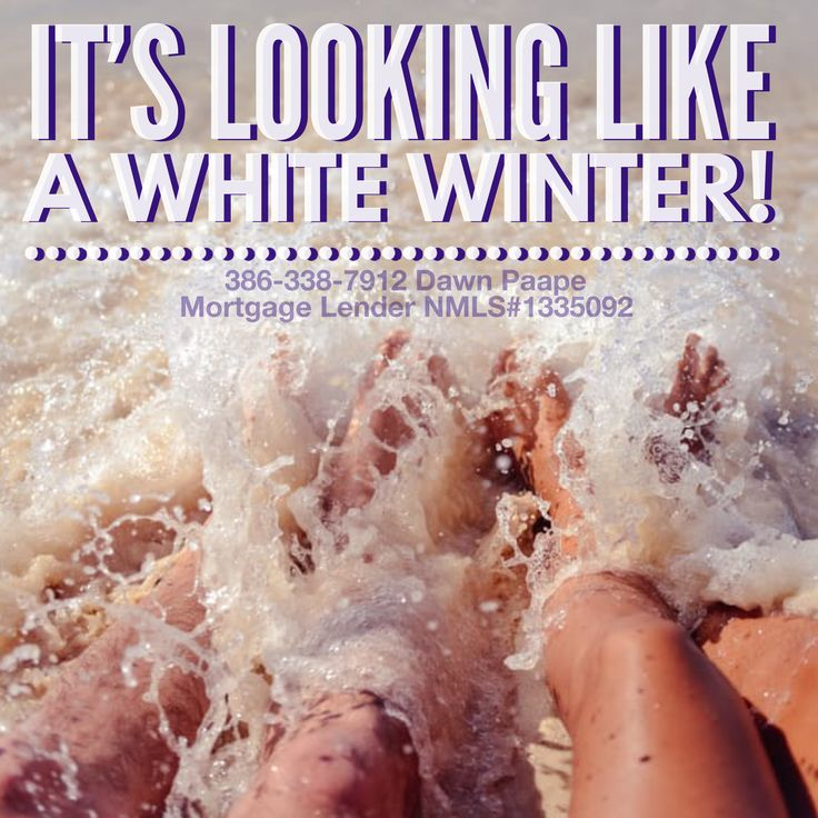 I just love our white Winters & so will you! Come join us!  Call/text me, Dawn Paape, 24/7/365, to discuss getting pre-approved; 386-338-7912. #mortgage #loans #realty #realtor #realestate #floridarealestate #homeforsale #property #home #firsttimebuyers #newlyweds #parents #veterans #retirement #snowbirds #whitewinter #PalmCoast #FlaglerBeach #Orlando #Tampa #Miami #Florida #NewYork #saltlife #boating #fishing #surfing #golfing #lovefl