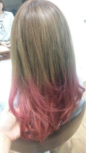 #beigebrown#pink#dipdye#Haircolor#hairstyles#ヘアカラー#ディップダイ#ベージュブラウン#ピンク#ヘアスタイル#Hairsalon#Welina