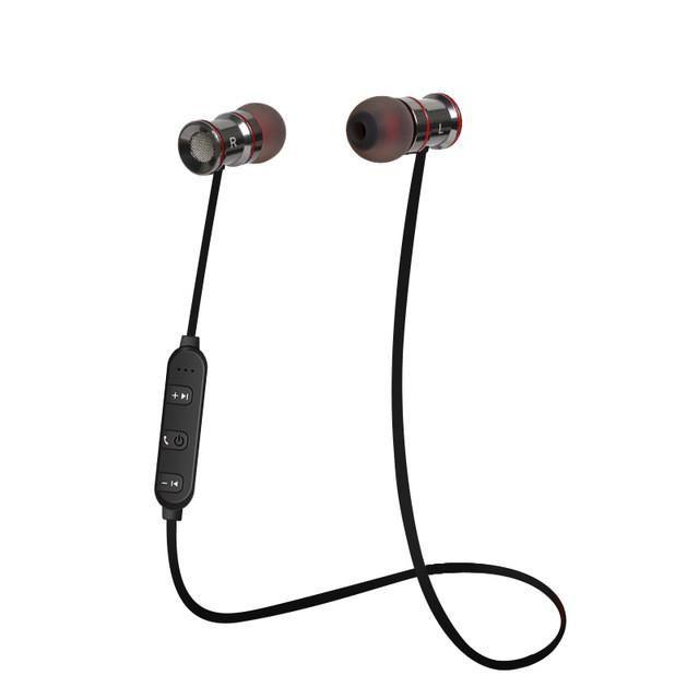 Caldecott BTE-01 Metal magnetic stereo earbuds wireless in ear earphones bluetooth gaming earphones for iphone