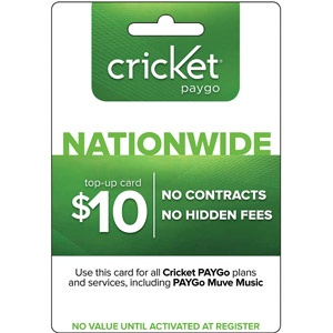 (Email Delivery) Cricket PayGo $10 Top-Up
