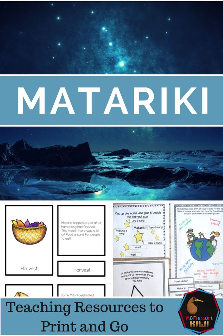 Matariki teaching resources for New Zealand classrooms! Learn about Māori new year and the stars.